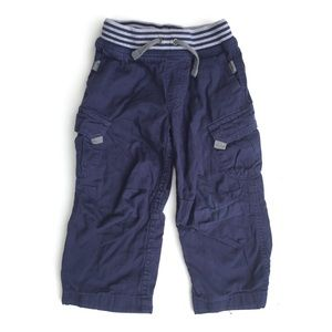 Hanna Andersson Baby Cargo Pants Cotton Navy Blue